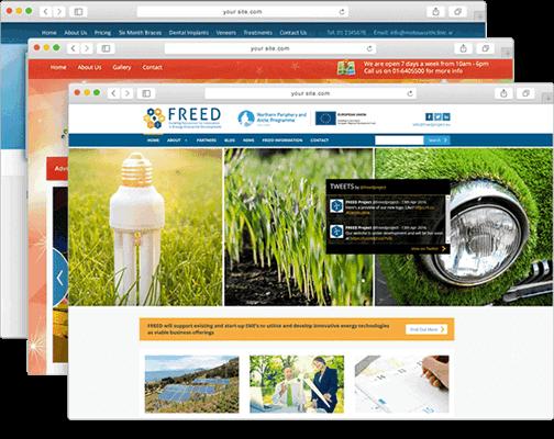 Irish Web HQ Website Portfolio