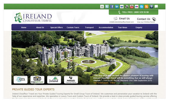 Tipperary Website Design - Ireland Chauffeur Travel