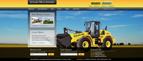 Web Design Ireland - Adare Machinery