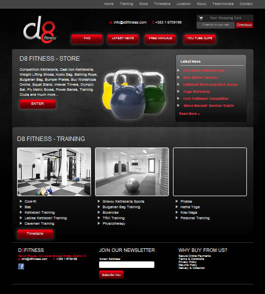 Website Design - D8 Fitnesss