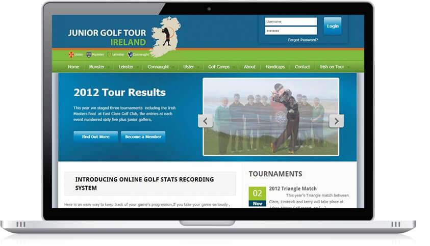 Junior Golf Tour Ireland Website Design