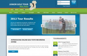 Junior Golf Tour Ireland Web Design Project