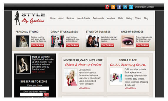Style By Caroline - Ireland Website Design
