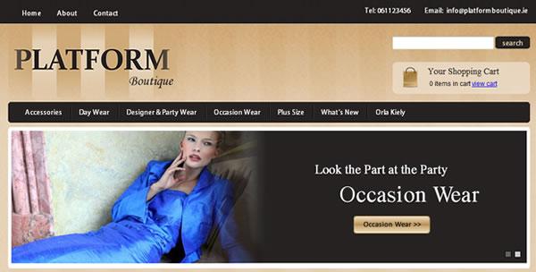 Web Design and E-Commerce Website - Platform Boutique