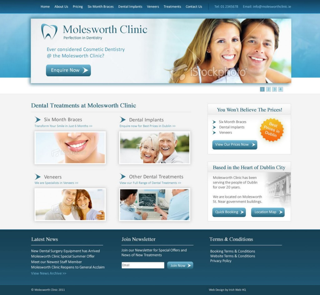 Irish Website Design - Molesworth Clinic