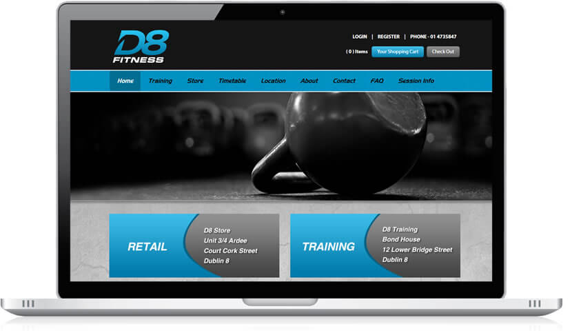 D8 Fitness Website Design