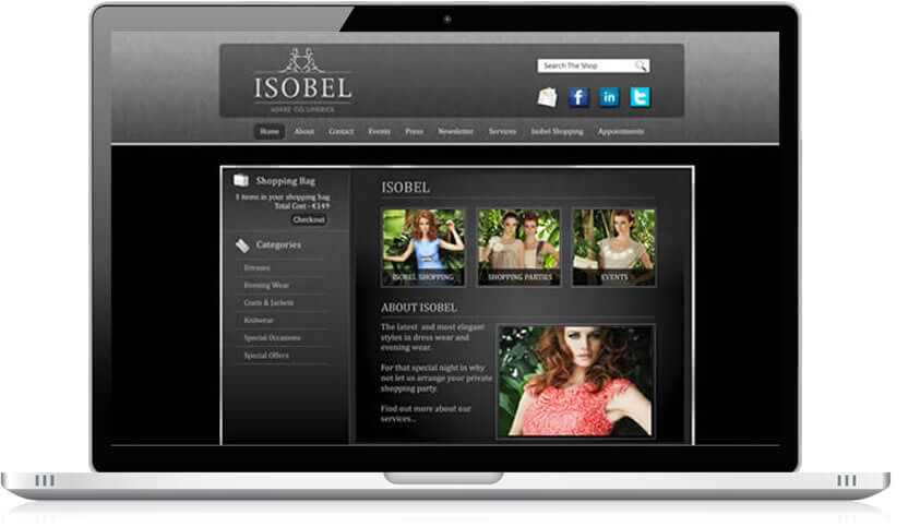 Isobel Ecommerce Website