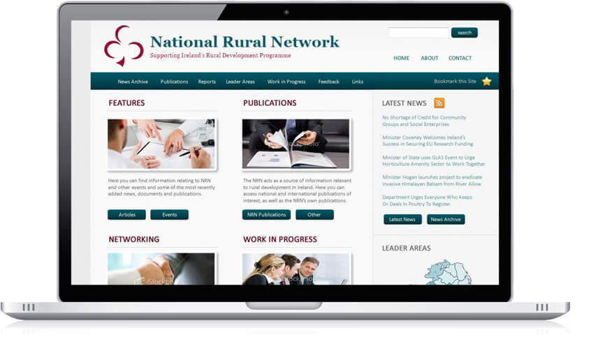 National Rural Network website design project