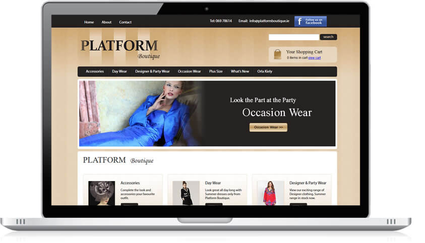 Ecommerce website for Platform Boutique