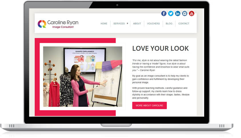Style By Caroline Website redesign
