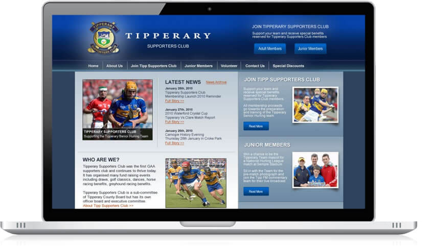Website for Tipp Supporters Club