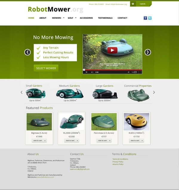 RobotMower.org Ecommerce Website