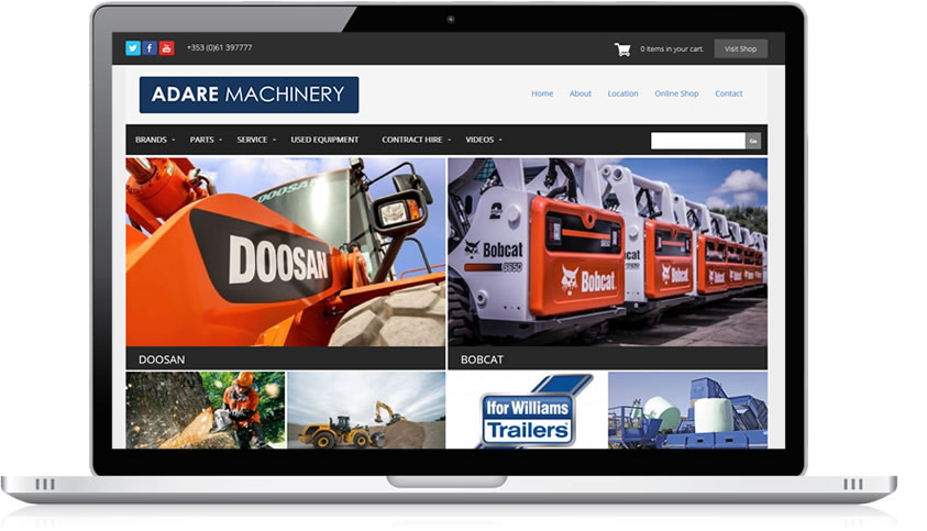 Ecommerce and Web Design - Adare Machinery