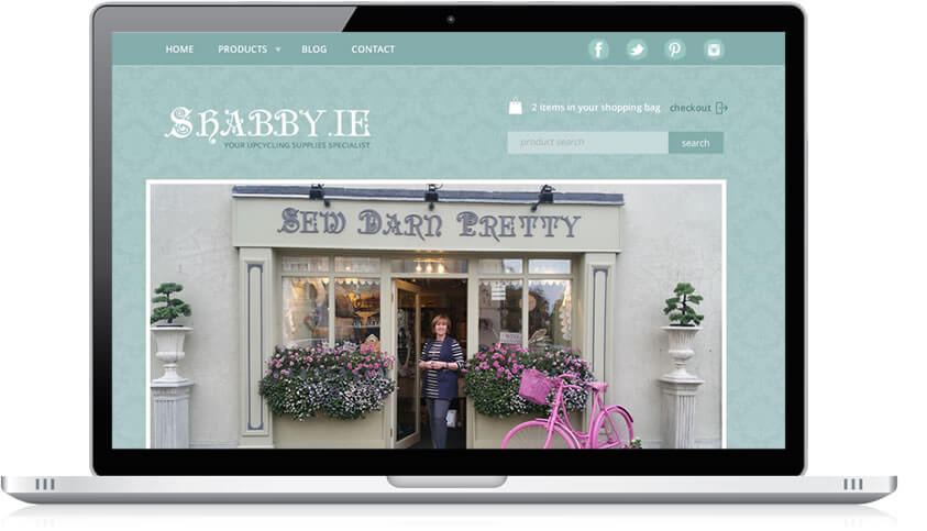 Ecommerce Website www.shabby.ie