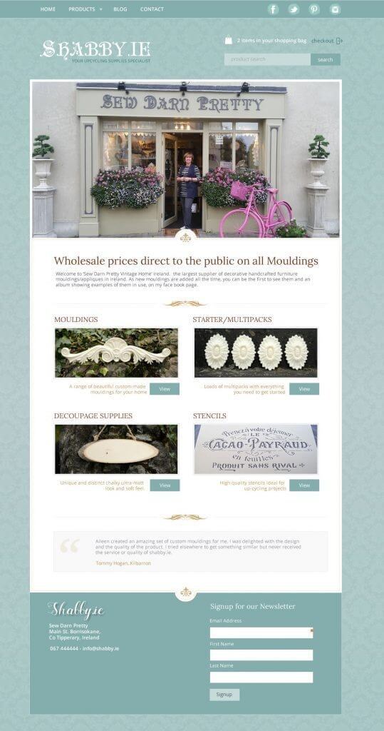 Shabby.ie website design