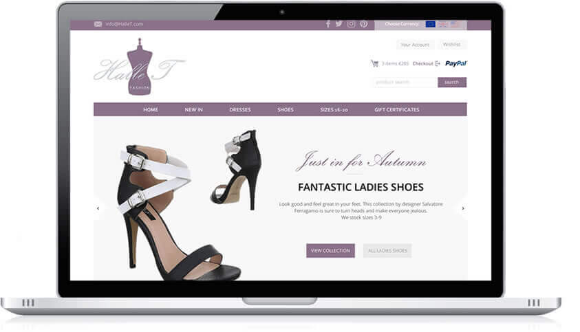 Ecommerce website - Halle T Fashion