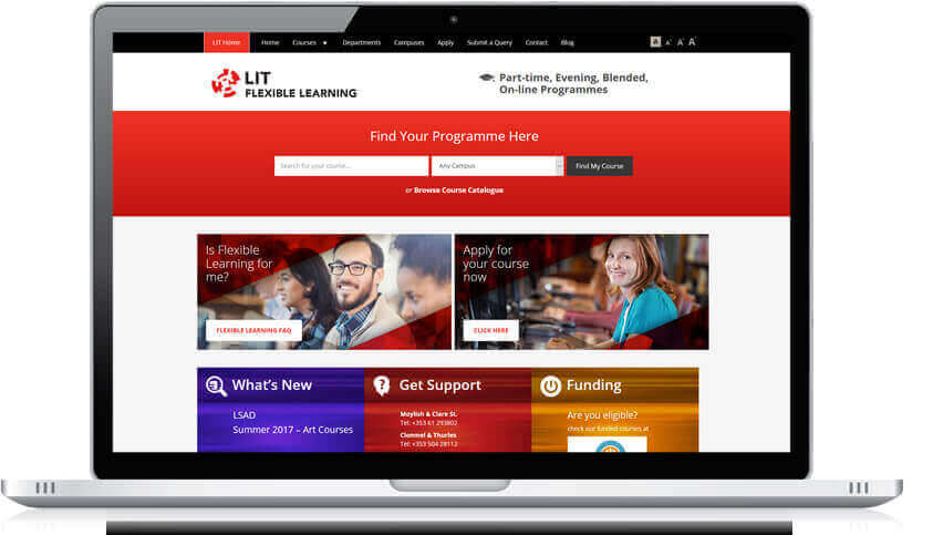 LIT Flexible Learning website